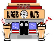 Malt shop Royalty Free Stock Images