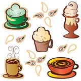 Malt Shop Icon Set Stock Images