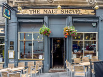 The Malt Shovel, Edinburgh Scotland. The Malt Shovel pub on Cockburn Street in Edinburgh`s amazing Old Town. There are many fine pubs on  Cockburn Street Stock Images