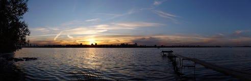 Malt Sonnenuntergang Lizenzfreies Stockfoto