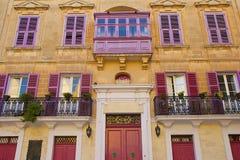 Maltańscy balkony Zdjęcie Royalty Free