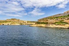 Maltański morze śródziemnomorskie widok fotografia stock