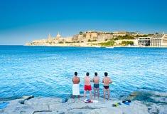 Malta ö, sikt av La Valletta Fotografering för Bildbyråer