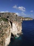 Malta öklippor arkivfoto