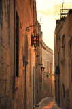 Malta. The picture shows an alleyway in the center of Medina, which is the ancient name of Rabat in Malta royalty free stock photo
