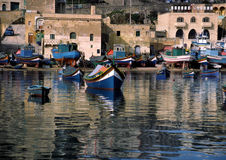 Malta. A seaside resort in Malta containing boats Royalty Free Stock Image