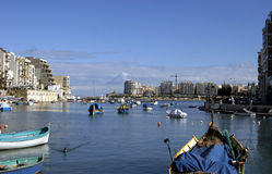Malta. Panoramic kind of quay of Malta Royalty Free Stock Image