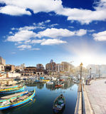 Malta. Fantastic city landscape on the seaside with boats. Malta, Europe Stock Image