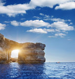 Malta. Fantastic Azure Window, famous stone arch on Gozo island, Dwejra. Malta Stock Photos