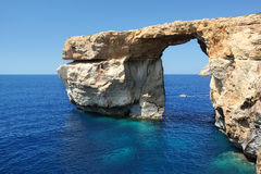 Malta. Fantastic Azure Window, famous stone arch on Gozo island, Dwejra. Malta Stock Photo
