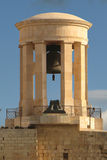 Malta. A monument in honours of the dead soldiers, in the entrance of the port of Valetta, Malta stock photography