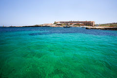 Malta. Green water detail in Malta Stock Image