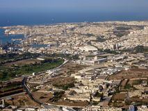 Malta, aerial view. Aerial view of Malta island, detail Stock Images