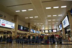 Malta Airport International Terminal. VALLETTA,ISLAND OF MALTA, EUROPE - NOVEMBER 8, 2014. Malta International Airport, named Luqa to by locals  or Valletta Stock Photography