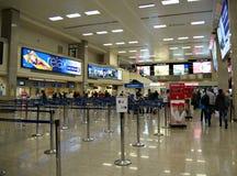Malta Airport International Terminal. VALLETTA,ISLAND OF MALTA, EUROPE - NOVEMBER 8, 2014. Malta International Airport, named Luqa to by locals  or Valletta Stock Photos