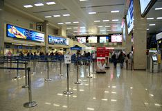Malta Airport International Terminal. VALLETTA,ISLAND OF MALTA, EUROPE - NOVEMBER 8, 2014. Malta International Airport, named Luqa to by locals  or Valletta Stock Images