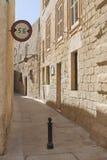 Malta, Mdina, Narrow Street. Malta, ancient town of Mdina, Narrow Street Stock Photo