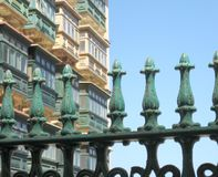 Malta architecture. Architecture of old town of Valletta, Malta Royalty Free Stock Photo