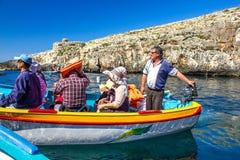 Malta błękita laguna Zdjęcia Royalty Free
