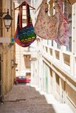 Malta bags souvenir on a street in Valletta. Malta bags  on a street in Valletta Stock Image