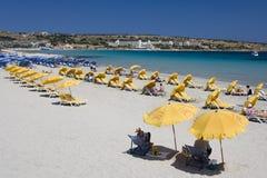 Malta - baia di Melliera Fotografia Stock Libera da Diritti