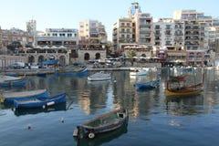 Malta, baia di Spinola fotografia stock