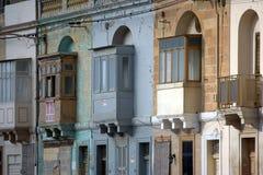 Malta balconies Royalty Free Stock Photography