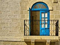 Malta Balcony. Typical features on a facade of a house in Malta Royalty Free Stock Images