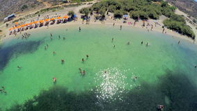 Malta beach. Aerial view. stock footage