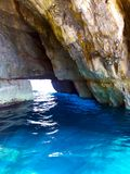 Malta Blue Grotto cave stock image