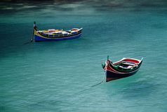Malta boats. Fish boats in popay village in malta Royalty Free Stock Image
