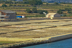 Malta, Salt pans Royalty Free Stock Image