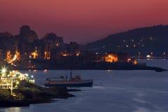 Malta - Bugibba und Schacht Str.-Pauls stockbild