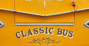 Malta bus. Close up of a classic yellow Maltese bus Stock Image