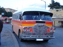 Malta bus. Typical old bus on the island of malta Stock Photo