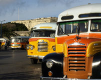 Malta Bus. The legendary and iconic Malta public buses Royalty Free Stock Photography