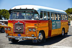 Malta Bus - Rear Detail. VALLETTA, MALTA _ JUN 20 - An old traditional Malta Bus at the terminus in Valletta. The Malta Bus ceased to exist in July 2011 Stock Photography
