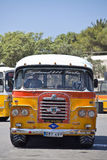 Malta Bus - Rear Detail. VALLETTA, MALTA _ JUN 20 - An old traditional Malta Bus at the terminus in Valletta. The Malta Bus ceased to exist in July 2011 Royalty Free Stock Photo