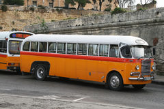 Malta bus. The typical buses of la valletta on malta island Royalty Free Stock Photography