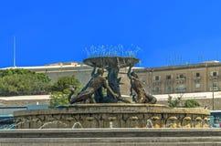 Malta, calles de La Valeta Imagenes de archivo