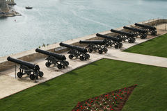 Malta cannons Royalty Free Stock Images