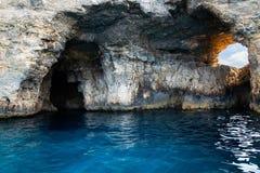 malta Caverne dell'isola di Comino immagine stock