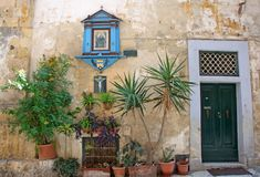 Malta: Characteristic details from the Old town of Valletta Stock Images