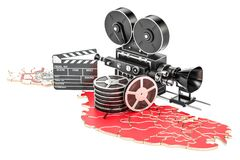 Malta cinematography, film industry concept. 3D rendering. Isolated on white background Stock Photography