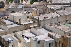 Malta city. Typical top view of Malta city Royalty Free Stock Photo