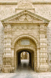 Malta city gates. Entrance to Mdina city. It is a fortified city in the Northern Region of Malta, which served as the island`s capital from antiquity to the Stock Image