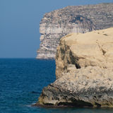 Malta cliffs. Some malta cliffs in xlendi Royalty Free Stock Photography
