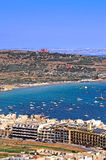 Malta, Coastline view. Mellieha Bay in the northwestern part of Malta Royalty Free Stock Photography