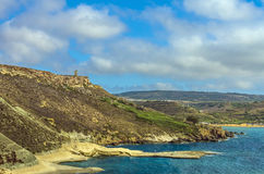 Malta - Gnejna Bay. Stunning beach at Gnejna Bay in the northwestern part of the island - Gnejna Bay, Malta Stock Image