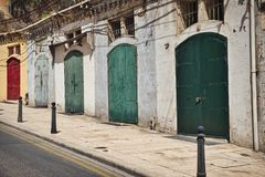 Malta color doors. Photo of the colorful doors of valetta in Malta Royalty Free Stock Photo